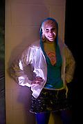 SARAH LESNIEWSKI, Beyond the Rave, Celebration of Hammer Film's  first horror movie broadcasr on MYSpace. Shoreditch House. London. 16 April 2008.  *** Local Caption *** -DO NOT ARCHIVE-© Copyright Photograph by Dafydd Jones. 248 Clapham Rd. London SW9 0PZ. Tel 0207 820 0771. www.dafjones.com.