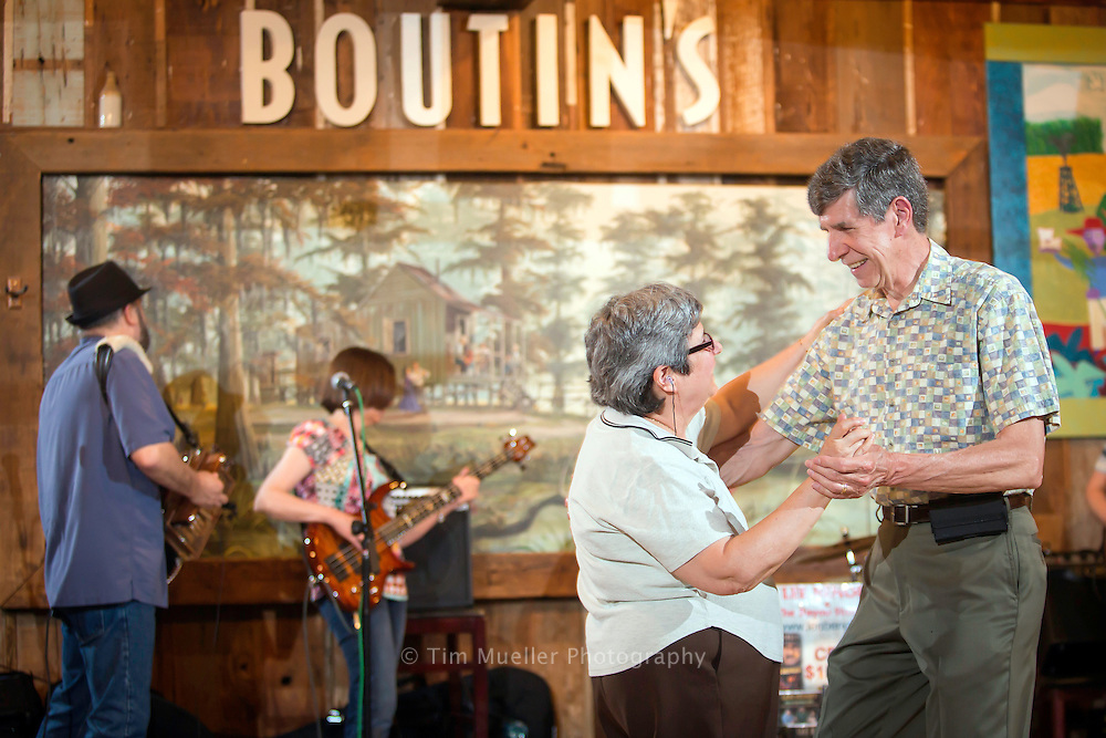 Mary Ann and John Krupsky dance as Lee Benoit and his band perform Saturday night' at Boutin's in Baton Rouge, La.