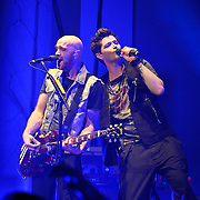 WASHINGTON, D.C. - November 7th, 2012 - Mark Sheehan and Danny O'Donoghue of The Script perform at DAR Constitution Hall in Washington, D.C.  The band's recently released third album, titled #3, reached number two in the UK charts and number 13 in the US Billboard 200. (Photo by Kyle Gustafson/ For The Washington Post)