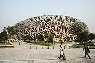 The Beijing National Stadium known as the Bird's Nest, Beijing, China.