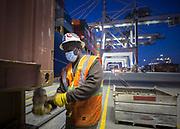 the Georgia Ports Authority's Port of Savannah Garden City Terminal, Thursday, April, 2, 2020, in Savannah, Ga.  (GPA Photo/Stephen B. Morton)