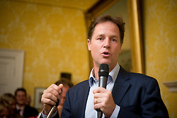 © Licensed to London News Pictures. 03/09/14. Admiralty House, Whitehall, London. Deputy Prime Minister Nick Clegg hosts a reception to celebrate his launch of the free school meals campaign. Celebratory chef Ainsley Harriott was among the guests . Photo credit : David Tett/LNP