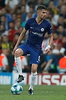 ISTANBUL, TURKEY - AUGUST 14: Jorginho of Chelsea in action during the UEFA Super Cup match between Liverpool and Chelsea at Vodafone Park on August 14, 2019 in Istanbul, Turkey. (Photo by MB Media/Getty Images)