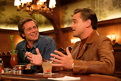 RELEASE DATE: August 9, 2019 TITLE: Once Upon a Time in Hollywood STUDIO: Columbia Pictures DIRECTOR: Quentin Tarantino PLOT: A TV actor and his stunt double embark on an odyssey to make a name for themselves in the film industry during the Charles Manson murders in 1969 Los Angeles. STARRING: BRAD PITT as Cliff Booth, LEONARDO DICAPRIO as Rick Dalton. (Credit Image: © Columbia Pictures/Entertainment Pictures/ZUMAPRESS.com)