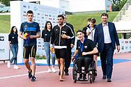 400 Stile Libero Uomini, Medaglia d oro DETTIGabriele ITALIA, Medaglia d argento CIAMPIMatteo ITALIA, Medaglia di bronzo IPSENAnton Oerskov DANIMARCA, BARELLI PAOLO, BORTUZZO MANUEL, GIORGETTI GIANCARLO, ROSOLINO MASSIMILIANO<br /> FIN 56 Trofeo Sette Colli 2019 Internazionali d Italia<br /> 21/06/2019<br /> Stadio del Nuoto Foro Italico<br /> Photo © Giorgio Scala, Deepbluemedia, Insidefoto