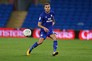 Stuart O'Keefe of Cardiff city in action. Carabao Cup, 1st round match, Cardiff city v Portsmouth at the Cardiff city Stadium in Cardiff, South Wales on Tuesday August 8th 2017.<br /> pic by Andrew Orchard, Andrew Orchard sports photography.