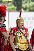 Italy, Rome, The Colosseum - Roman re-enactment
