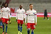 Fussball: 2. Bundesliga, FC St. Pauli - Hamburger SV, Hamburg, 01.03.2021<br /> Enttäsuchung bei Sonny Kittel (HSV)<br /> © Torsten Helmke