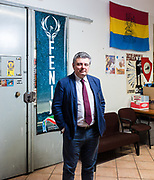 Massimo Milani, coordinatore Fdi Roma. Sede di Fratelli d'Italia ex sede MSI di via Sommacampagna, Roma. | Massimo Milani, organizer of Fratelli d'Italia. Fratelli d'Italia party headquarters in Rome.