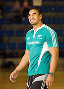 Jerome Kaino before the pool session. Rugby - All Blacks pool session at QEII pool, Christchurch. Monday 2 August 2010. Photo: Joseph Johnson/PHOTOSPORT