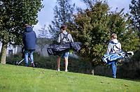 HALFWEG - jeugdgolf  olv pro's David Sijnke  en Dirk Sandee  op de Amsterdamse Golf Club.    COPYRIGHT KOEN SUYK