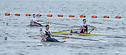 Reading. United Kingdom. GBR LM1X GBR LW1X.  semi final,  leading Jamie KIRKWOOD, Will FLECTHER and Adam FREMANN PASK.   2014 Senior GB Rowing Trails, Redgrave and Pinsent Rowing Lake. Caversham.<br /> <br /> 14:41:03  Saturday  19/04/2014<br /> <br />  [Mandatory Credit: Peter Spurrier/Intersport<br /> Images]