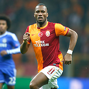 Galatasaray's Tebily Didier Yves Drogba during their UEFA Champions League Round of 16 First leg soccer match Galatasaray between Chelsea at the AliSamiYen Spor Kompleksi in Istanbul, Turkey on Wednesday 26 February 2014. Photo by Aykut AKICI/TURKPIX