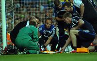 Photo: Tony Oudot.<br /> Chelsea v Blackburn Rovers. The FA Barclays Premiership. 15/09/2007.<br /> Christopher Samba of Blackburn is stretchered off