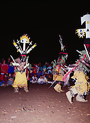 Crown Dancers at Carla Goseyun's Camp, Carla Goseyun's White Mountain Apache Traditional Sunrise Ceremony, Whiteriver, Arizona.  Please Note: A small extra licensing fee needs to be paid to the Goseyun Family for usage of this photo. Contact Fred Hirschmann for more information. Thanks.