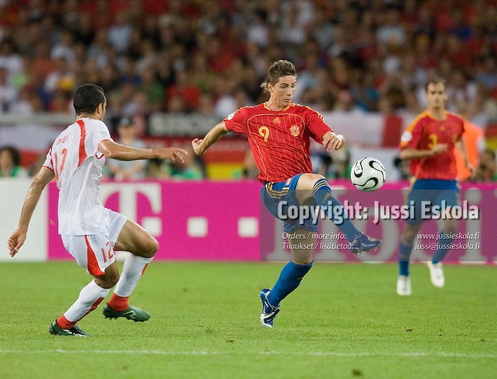 Fernando TORRES.&#xA;Spain - Tunisia, World Cup, Stuttgart, June 19, 2006. &#xA;Photo: Jussi Eskola<br />
