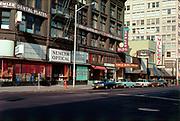 CS02140. SW Third from Morrison. Semler building. November 8, 1976