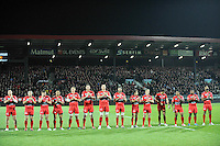 Equipe Toulon - Hommage à Camille Muffat / Alexis Vastine / Florence Arthaud - 14.03.2015 - Lyon OU / Toulon -  20eme journee de Top 14<br /> Photo : Jean Paul Thomas  / Icon Sport<br /> <br />   *** Local Caption ***
