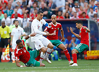 Mehdi Benatia (Morocco) tackles on Cristiano Ronaldo (Portugal)<br /> Moscow 20-06-2018 Football FIFA World Cup Russia  2018 <br /> Portugal - Morocco / Portogallo - Marocco <br /> Foto Matteo Ciambelli/Insidefoto