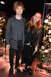 Siblings ALEXANDRE DE LA BAUME and JOSEPHINE DE LA BAUME at the Lancôme pre BAFTA party held at The London Edition, 10 Berners Street, London on 14th February 2014.