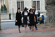 Lucy Ferry, India Jane Birley, Lady Annabel Goldsmith and Robin Birley. Mark Birley funeral. St Paul's , Knightsbridge. London. 19 September 2007. -DO NOT ARCHIVE-© Copyright Photograph by Dafydd Jones. 248 Clapham Rd. London SW9 0PZ. Tel 0207 820 0771. www.dafjones.com.