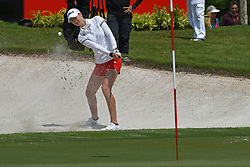 SINGAPORE, March 3, 2018  Nelly Korda of the United States hits a shot during the 3rd round of the HSBC Women's World Championship held in Singapore's Sentosa Golf Club on March 3, 2018. (Credit Image: © Then Chih Wey/Xinhua via ZUMA Wire)