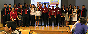 Students who presented service work projects at the Senior Summit on Tuesday, May 14, 2013.