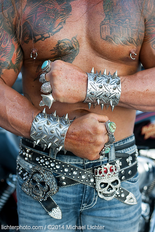 Ripped and Ready. Sturgis, SD. 2014<br /> <br /> Limited Edition Print from an edition of 15. Photo ©2014 Michael Lichter.
