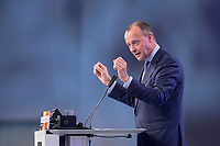 22 NOV 2019, LEIPZIG/GERMANY:<br /> Friedrich Merz, Rechtsanwalt, Lobbyist und ehem.  Vorsitzender der CDU/CSU-Bundestagsfraktion, haelt eine Rede, CDU Bundesparteitag, CCL Leipzig<br /> IMAGE: 20191122-01-218<br /> KEYWORDS: Parteitag, party congress
