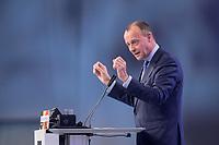 22 NOV 2019, LEIPZIG/GERMANY:<br /> Friedrich Merz, Rechtsanwalt, Lobbyist und ehem.  Vorsitzender der CDU/CSU-Bundestagsfraktion, haelt eine Rede, CDU Bundesparteitag, CCL Leipzig<br /> IMAGE: 20191122-01-218<br /> KEYWORDS: Parteitag, party congress