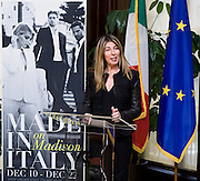 """Nina Garcia, Fashion Director of Marie Claire addresses press at the Italian Trade Commission's """"Made in Italy on Madison"""" Launch Press Conference held at 2:00 PM on Thursday, December 10, 2009 at the Offices of the Italian Trade Commission, 33 East 67th Street, New York, NY."""