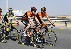 February 15, 2018 - Muscat, Oman - Illustration peloton during stage 3 of the 9th edition of the 2018 Tour of Oman cycling race, a stage of 179.5 kms between German University of Technology and Wadi Dayqah Dam on February 15, 2018 in Muscat, Sultanate of Oman, (Credit Image: © Panoramic via ZUMA Press)