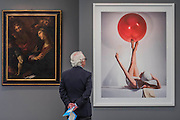 Old and new -  work by Guilo Procaccini, 1625, and Horst P Horst 1941 in Bernheimer Fine Art - Frieze Masters London 2016, Regents Park, London. It covers several thousand years of art from 130 of the world's leading modern and historical galleries. The vetted artworks spanning antiquities, Asian art, ethnographic art, illuminated manuscripts, Medieval, modern and post-war, Old Masters and 19th-century, photography, sculpture and Wunderkammer.  The fair is open to the public 06-09 October.
