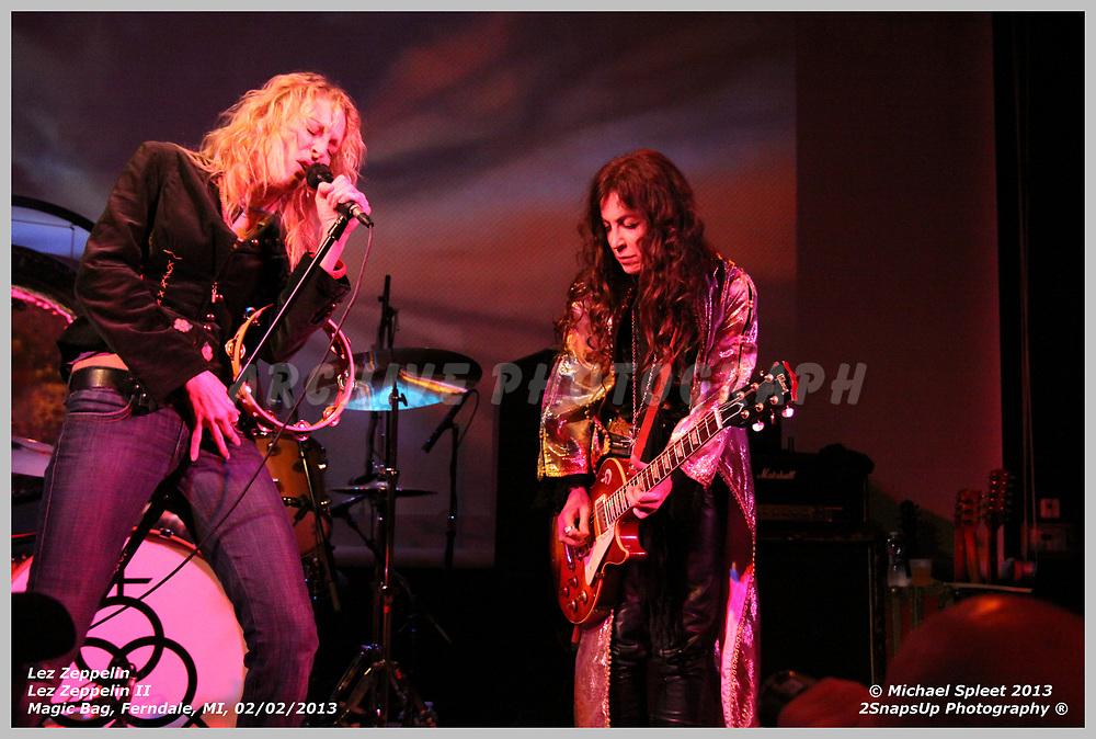 FERNDALE, MI, SATURDAY, FEB. 02, 2013: Lez Zeppelin, Led Zeppelin II  at Magic Bag, Ferndale, MI, 02/02/2013.  (Image Credit: Michael Spleet / 2SnapsUp Photography)