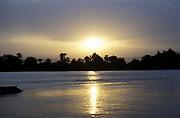 River Nile at sunset. Egypt