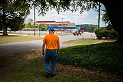 James Sanderson, president of United Steelworkers Local 7898, walks from his union office toward Liberty Steel's mill in Georgetown, South Carolina, Friday April 30, 2021. More than 100 workers were laid off from the mill in October 2020 after it shut down in the early days of the coronavirus pandemic.<br /> <br /> Credit: Cameron Pollack for The Wall Street Journal