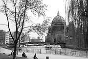 Berlin GERMANY  General Views around the Berlin Cathedral,  Pleasure Boats on the River Spree, Berlin-Mitte, District. Tuesday    20/04/2010  [Mandatory Credit. Peter Spurrier/Intersport Images].. Street Photos