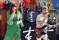 August 10, 2018 - New York City, New York, U.S. - Singers EMILY WARREN and ANDREW TAGGART from 'The Chainsmokers' performs on 'Good Morning America' held in Central Park. (Credit Image: © Nancy Kaszerman via ZUMA Wire)