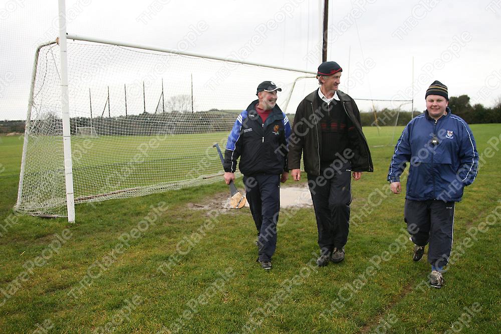 Kilmaley mentors Tommy Keane, Patrick Lynch and John Carmody.<br /> Photograph by Yvonne Vaughan
