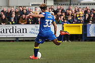 AFC Wimbledon striker Lyle Taylor (33) scoring penalty to make it 1-0 during the EFL Sky Bet League 1 match between AFC Wimbledon and Oxford United at the Cherry Red Records Stadium, Kingston, England on 10 March 2018. Picture by Matthew Redman.