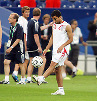 Photo: Chris Ratcliffe.<br />England Training Session. FIFA World Cup 2006. 30/06/2006.<br />Aaron Lennon in training.