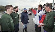 """Putney. London. GREAT BRITAIN;  Left to right, Niall O'TOOLE. Peter HAINING, Mike ROSEWELL, Wade HALL CRAGGS and Frans GOEBEL <br /> <br /> 1995 Thames World Sculling Championships, Putney to Mortlake. Championship Course, River Thames.<br /> <br /> [Mandatory Credit; """"Photo, Peter Spurrier/Intersport-images]"""