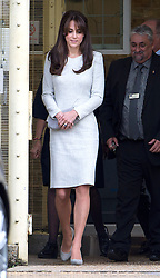 ** EMBARGOED UNTIL 12:30pm UK TIME September 25, 2015** © Licensed to London News Pictures. 25/09/2015. Woking, UK. Catherine, The Duchess of Cambridge leaving the main security gate following a visit to the Rehabilitation of Addicted Prisoners Trust at HMP Send on September 25, 2015. Photo credit: Ben Cawthra/LNP