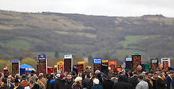 Bookies in the Best Mate enclosure during Gold Cup Day of the 2017 Cheltenham Festival