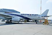 Israel, Ben-Gurion international Airport Sun D'or international alines Boeing 757