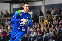Nik Henigman of Slovenia during friendly handball match between Slovenia and Nederland, on October 25, 2019 in Športna dvorana Hardek, Ormož, Slovenia. Photo by Blaž Weindorfer / Sportida