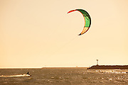 Wind Surfers At Seal Beach Pier