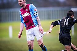 Whitehill Welfare Andrew Kidd and Edusport Academy Yassine Fartassi.<br /> Whitehill Welfare 2 v 1 Edusport Academy, South Challenge Cup Quarter Final played 7/3/2015 at Ferguson Park, Carnethie Street, Rosewell.