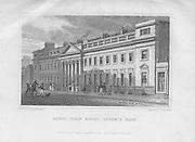 Royal York Baths, Regent's Park, engraving from 'Metropolitan Improvements, or London in the Nineteenth Century', England, UK 1828