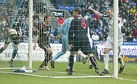 Photo: Aidan Ellis.<br /> Bolton Wanderers v Sunderland. The Barclays Premiership. 18/03/2006.<br /> Bolton's Kevin Nolan celebrates as Kevin Davis header hits the back of the net